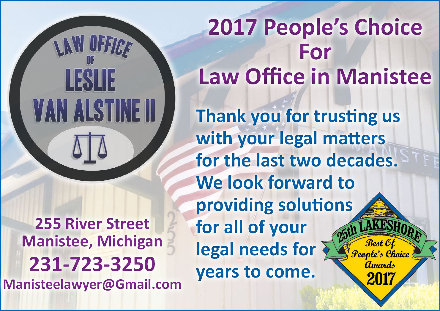 Voted People's choice for Law Office in 2017